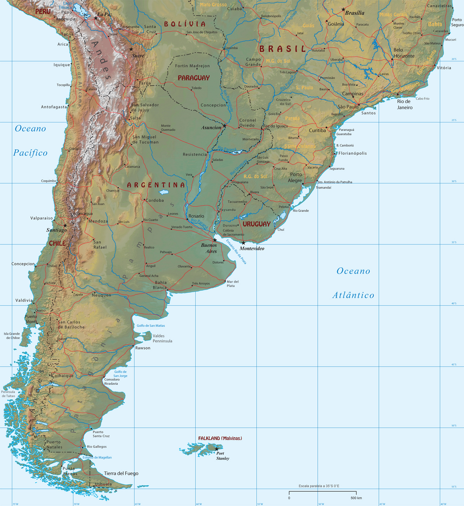 Mapas da Amrica do Sul