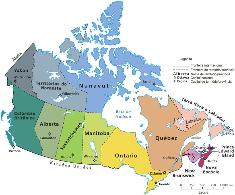 mapa do canada Mapas do Canadá mapa do canada