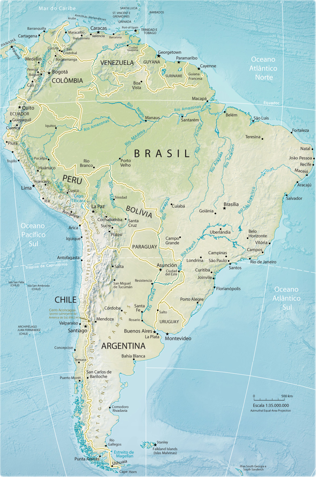 mapa america sul Mapa América do Sul mapa america sul